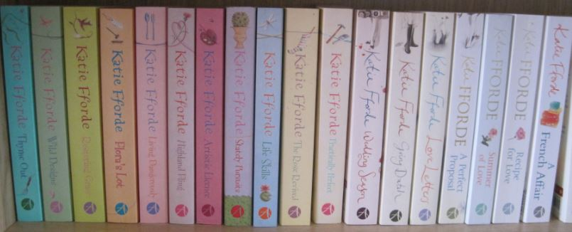 Shelf of Katie Fforde books
