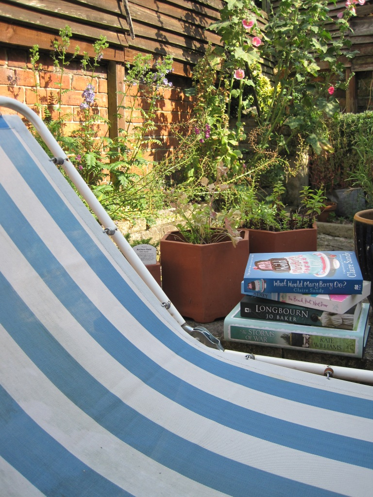 Books and the sunlounger