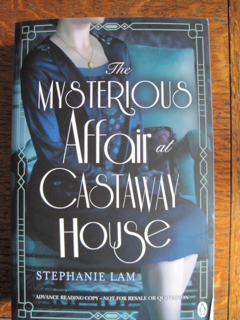The very pretty and retro cover of The Mysterious Affair at Castaway House