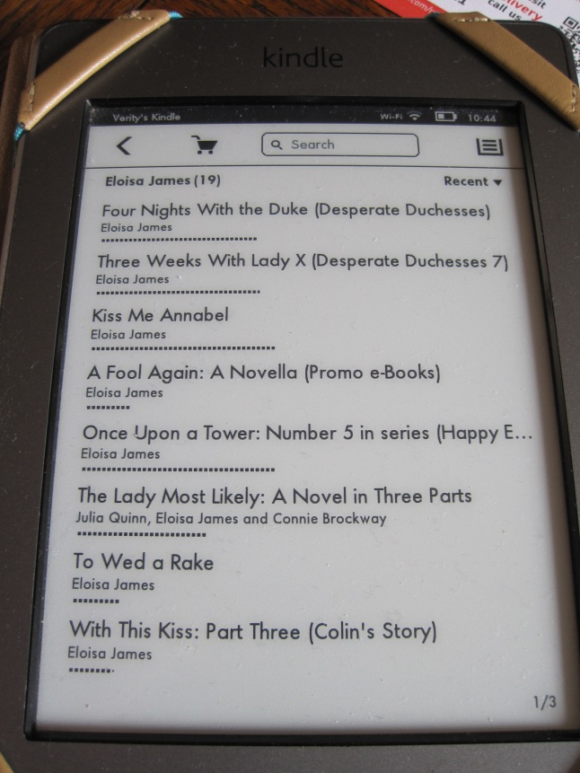 picture of kindle screen