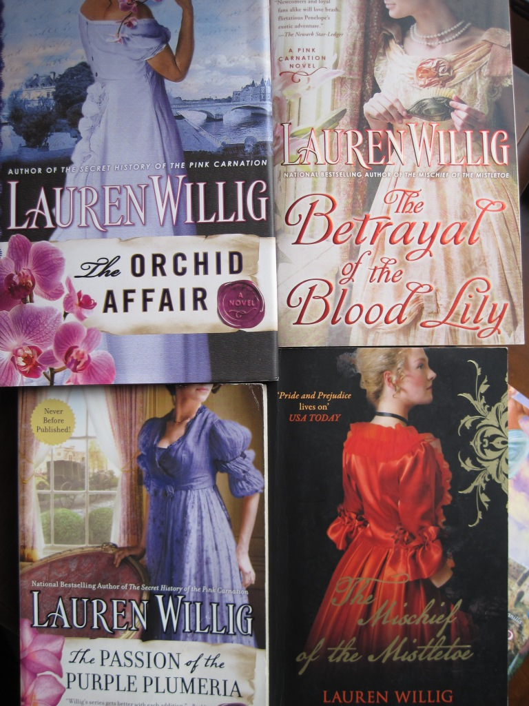 Pink Carnation book covers