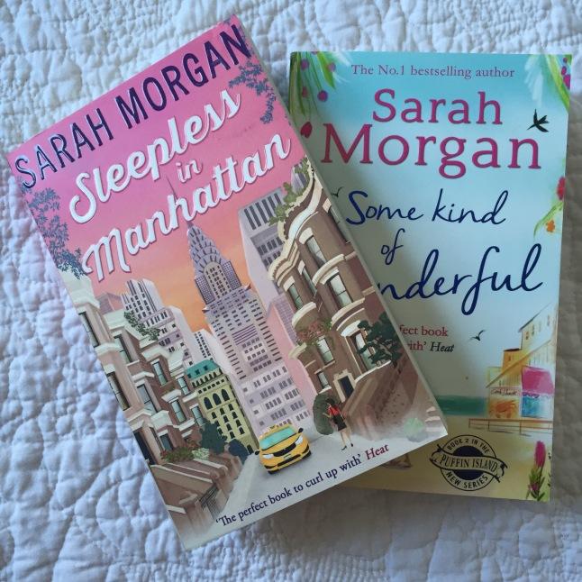Copies of two Sarah Morgan books