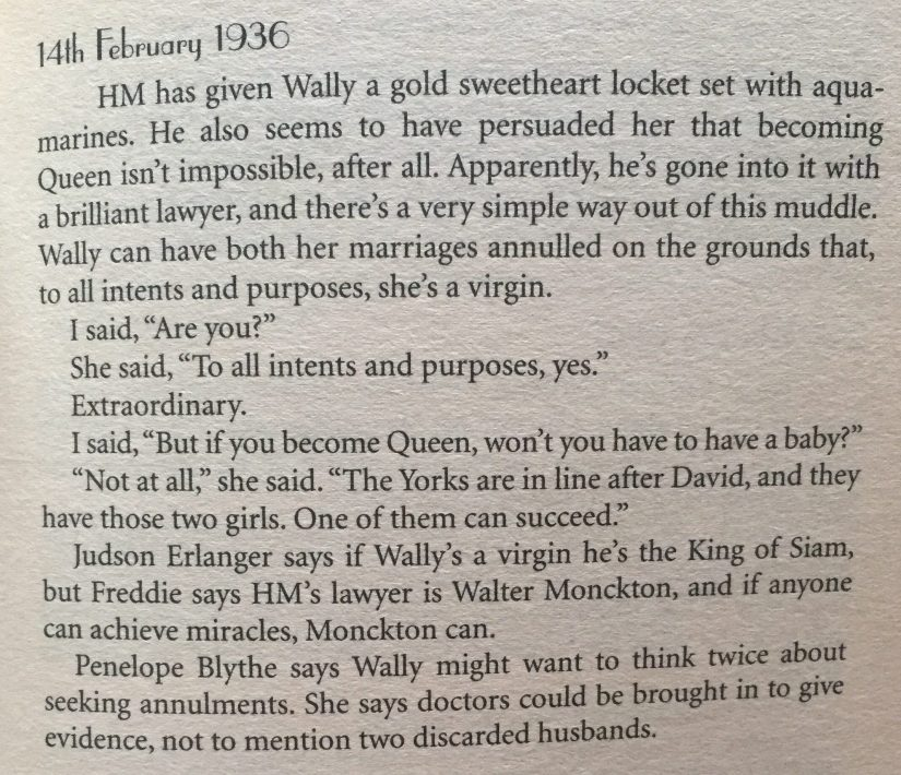 A quote from Gone with the Windsors