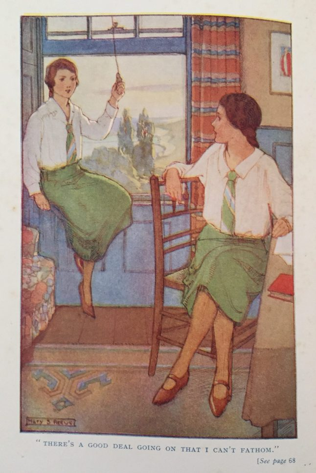 Colour illustration from the front of Dimsie, Head Girl