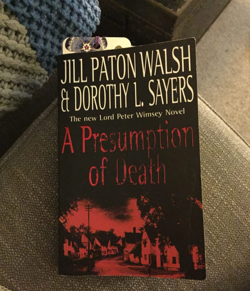 A slightly battered paperback copy of A Presumption of Death