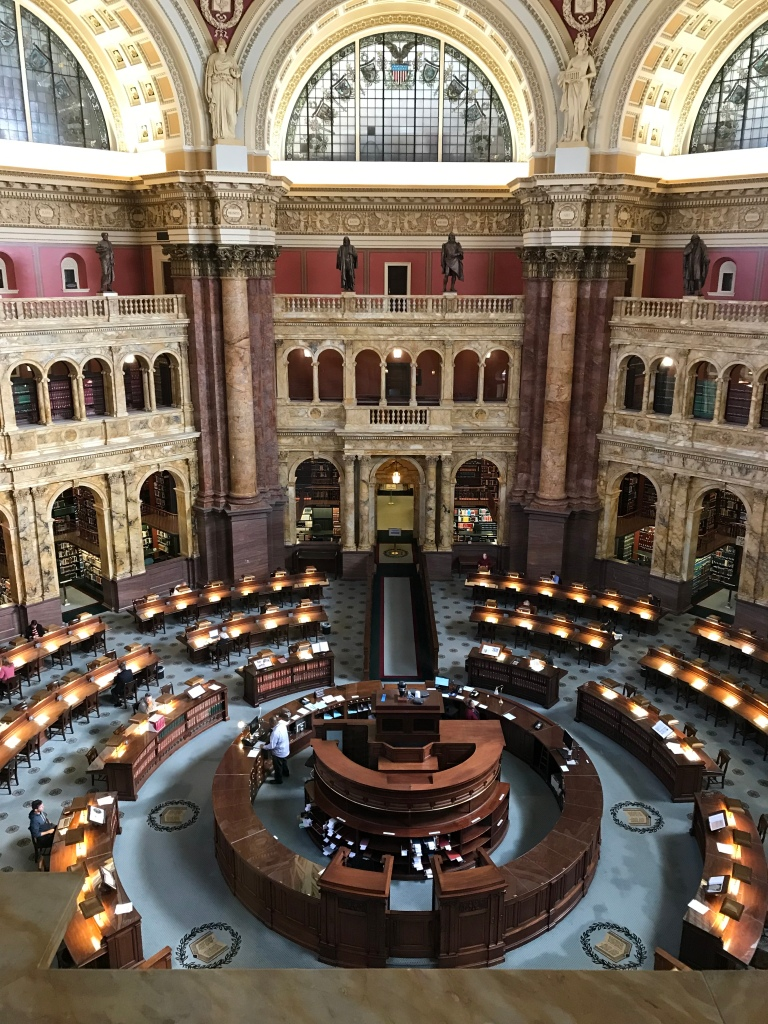 The reading room at the Library of Congress