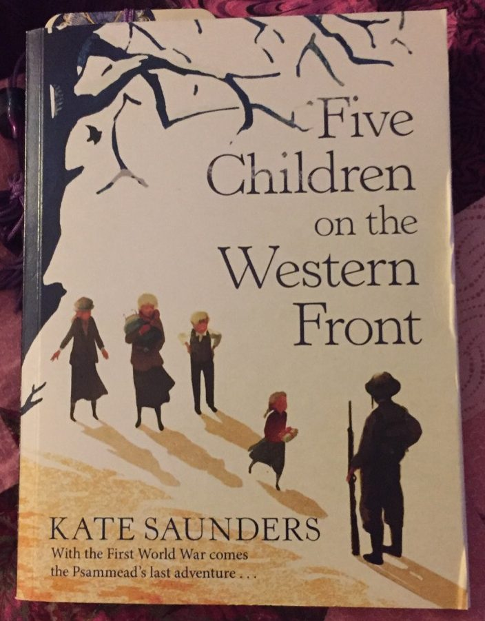 Paperback copy of Five Children on the Western Front