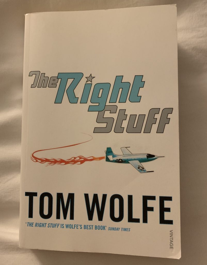 Paperback copy of The Right Stuff