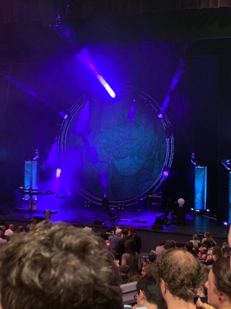 stage set up for Bill Bailey