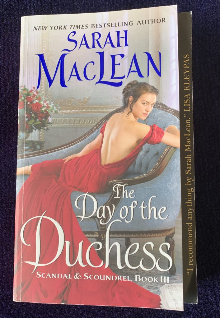 Paperback copy of Day of the Duchess