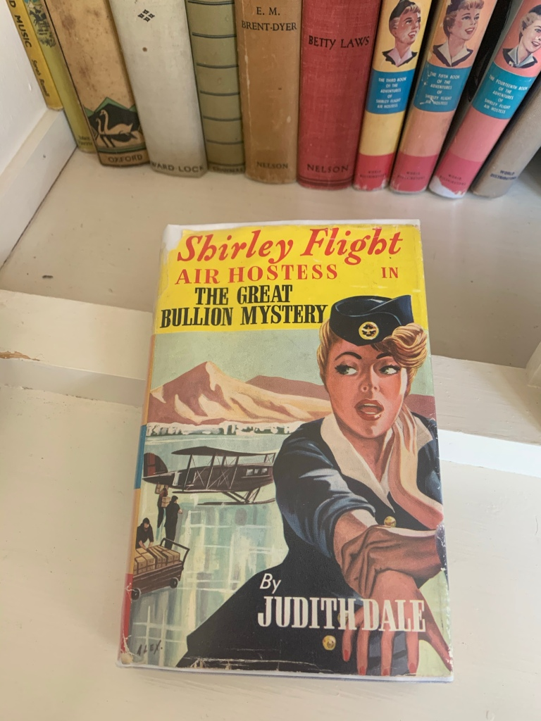 Hardback copy of Shirley Flight, Air Hostess in the Great Bullion Mystery