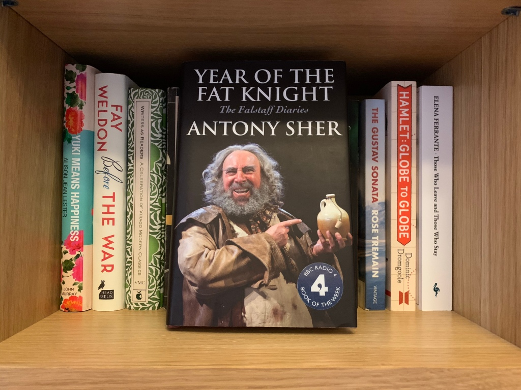Year of the Fat Knight on a bookshelf