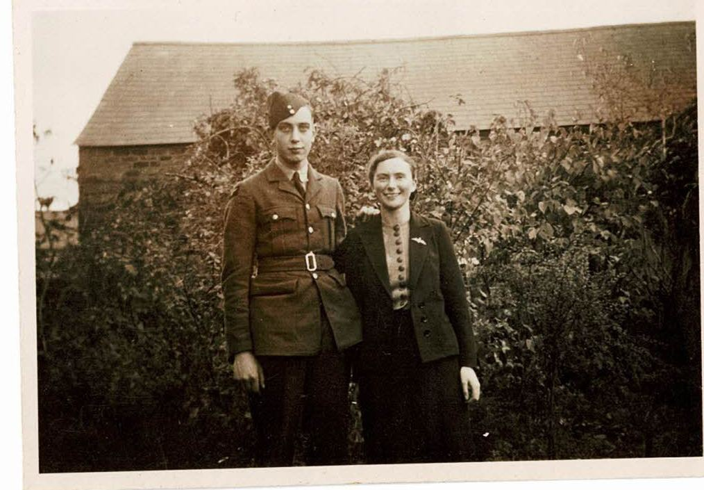 Photo of my grandad with my granny during the war