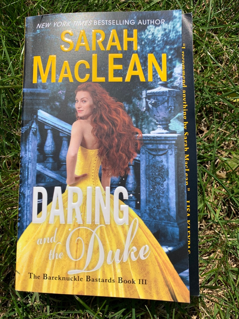 Paperback copy of Daring and the Duke