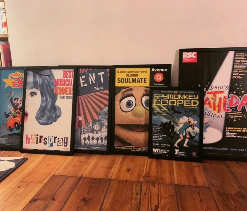 Six show posters