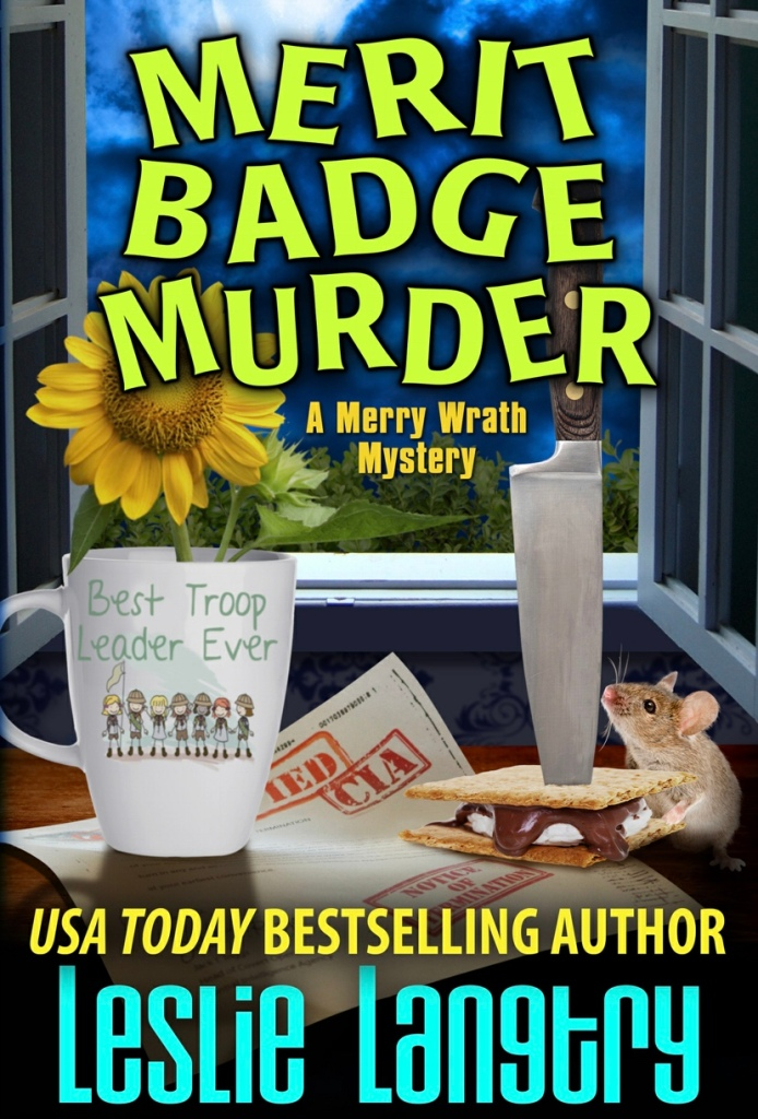 Cover of Merit Badge Murder by Leslie Langtry