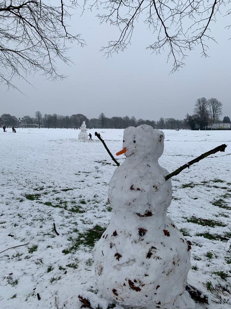 Snowmen in the park