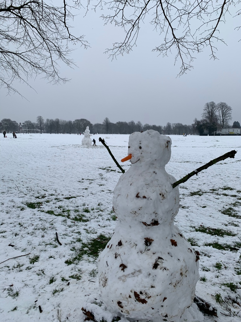 Snowmen in the park