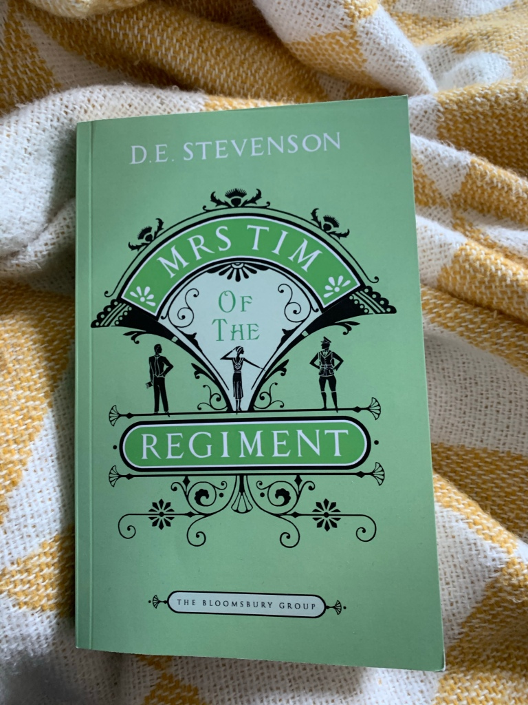 Paperback copy of Mrs Tim of the Regiment