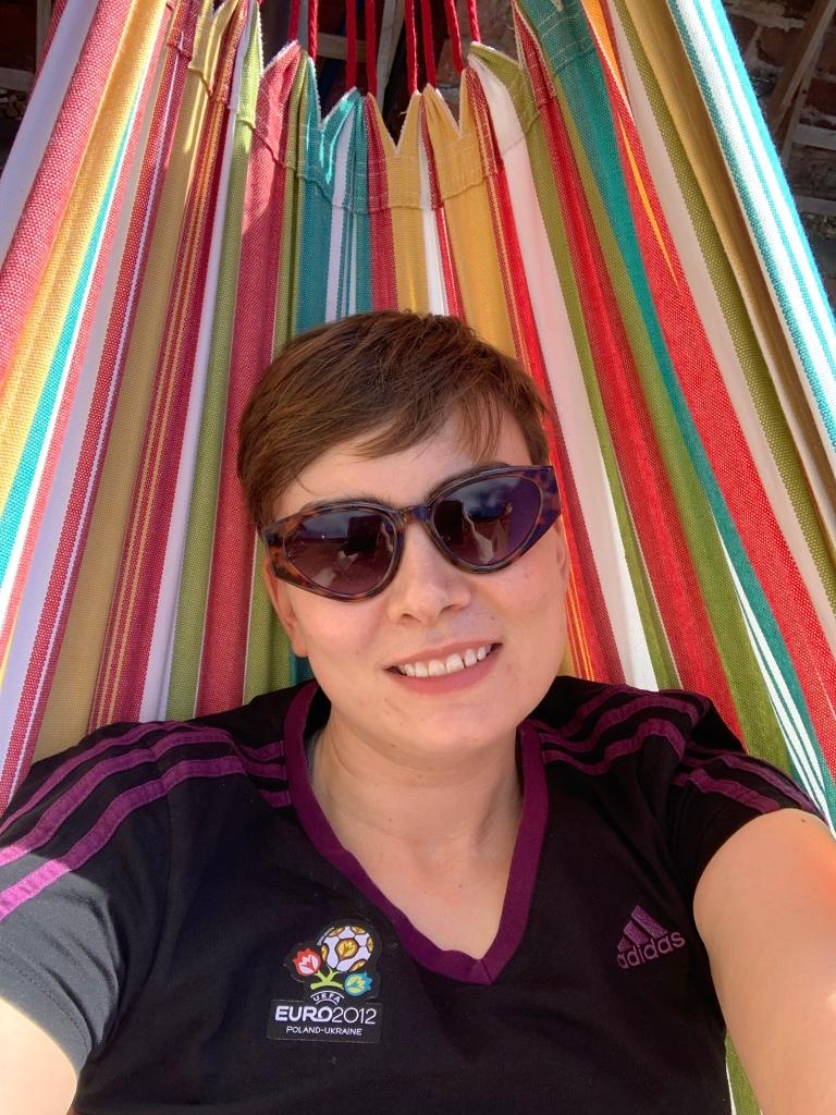Me in a hammock